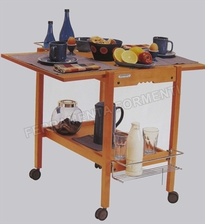 Newton naturale foppapedretti carrello in legno - Carrelli cucina foppapedretti ...