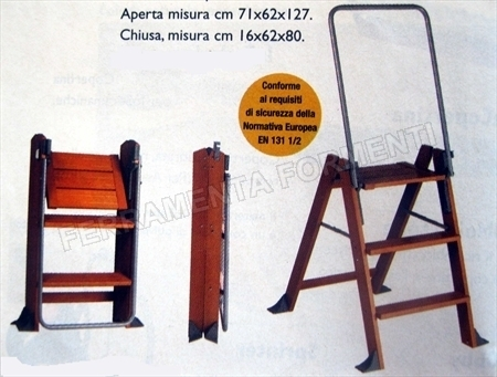 La scaletta naturale foppapedretti in legno