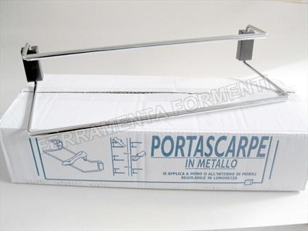 6 portascarpe estensibili in acciaio cromato scarpiera scegliere misura - Portascarpe salvaspazio ...