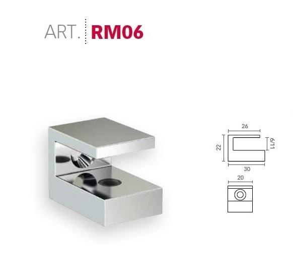 Supporti Mensole Cristallo.Reggimensola Supporto Per Mensola In Vetro Mital Rm06 Scegliere Colore