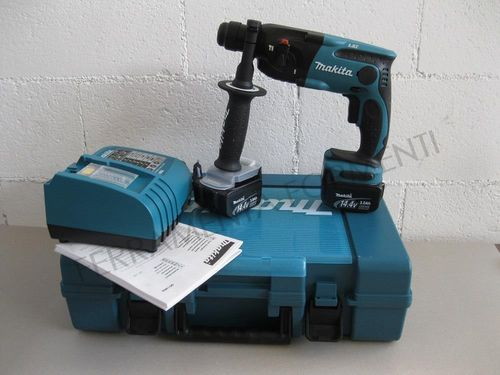MAKITA - rotary hammer BHR162RFE, quick charger, 2 batteries 14.4V Lithium 3Ah