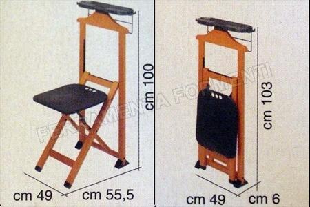 Suite naturale foppapedretti sedia indossatore in legno for Sedia a dondolo foppapedretti
