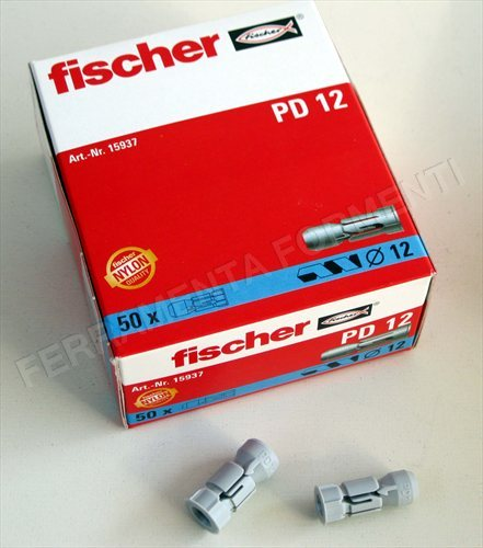 Fischer pd 12 tassello in nylon per cartongesso scatola for Fischer per cartongesso