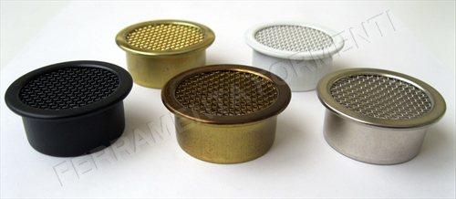 Griglia areazione per mobile in ottone foro 35 mm - Foro areazione cucina ...
