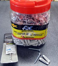 Light weight fixing elematic T6 dia.mm.6x30 - 300 pieces