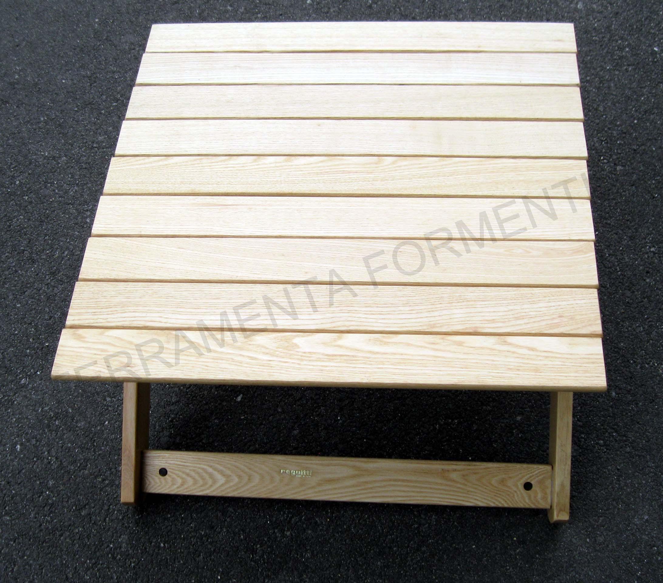 Tavolino rettangolare giardino in legno frassino naturale for Reguitti mobili da giardino