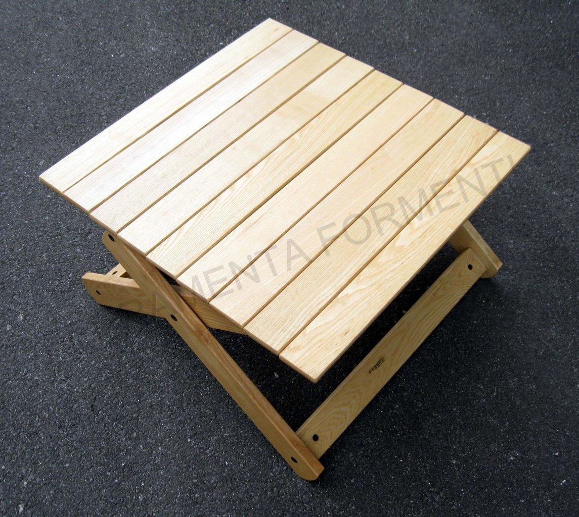 Tavolino rettangolare giardino in legno frassino naturale for Giardino rettangolare