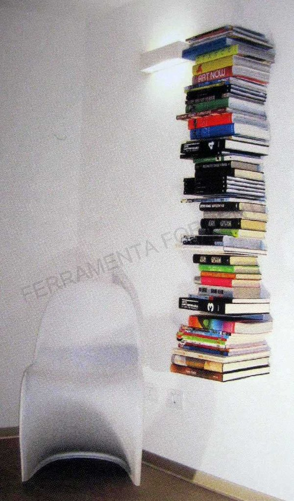 Mensole A Scomparsa Per Libri.Mensola Design A Scomparsa In Metallo C Book Colore Alluminio