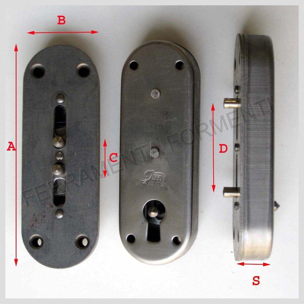 Serratura a stringa per anta armadio - MERONI 68BIS ...