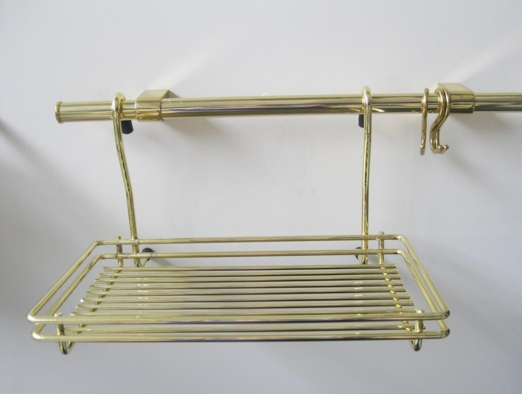 Mensole acciaio per cucina scaffale mensole mdf e acciaio - Portamestoli ikea ...