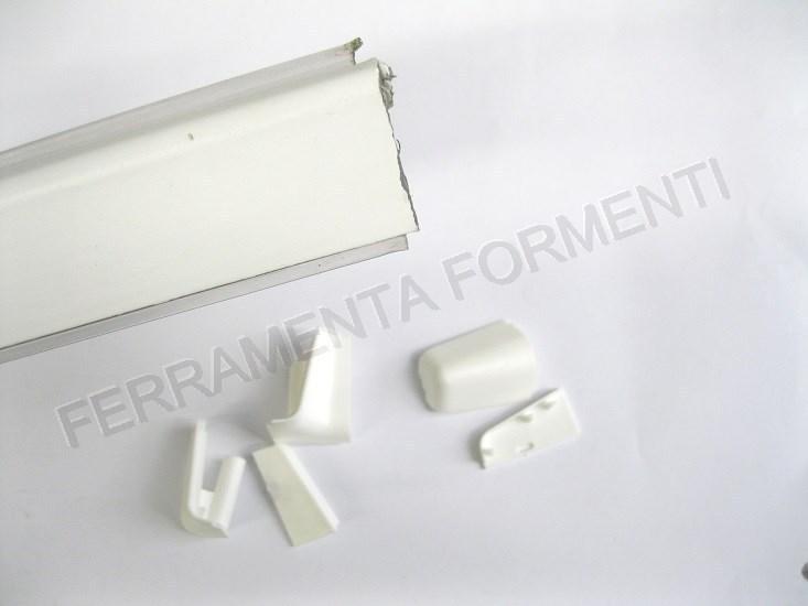 Profilo bordo alzatina per mobile cucina in pvc bianco 4 m for Alzatina top cucina bricoman