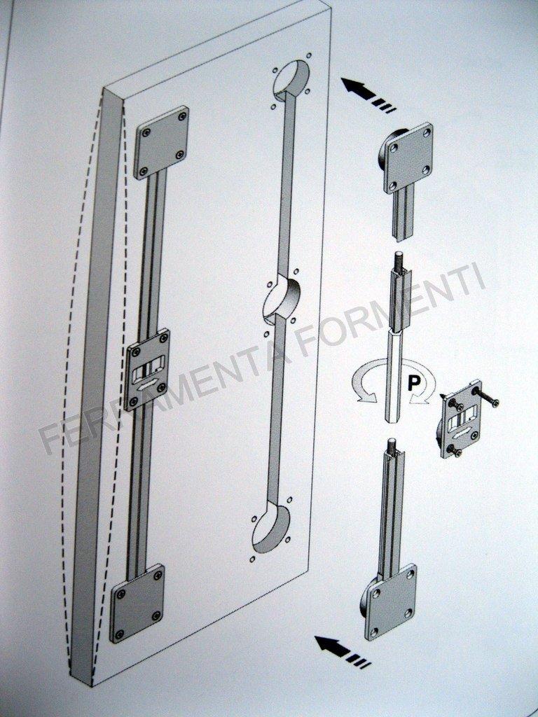barra raddrizza ante per armadio - rinforzo porta mobile