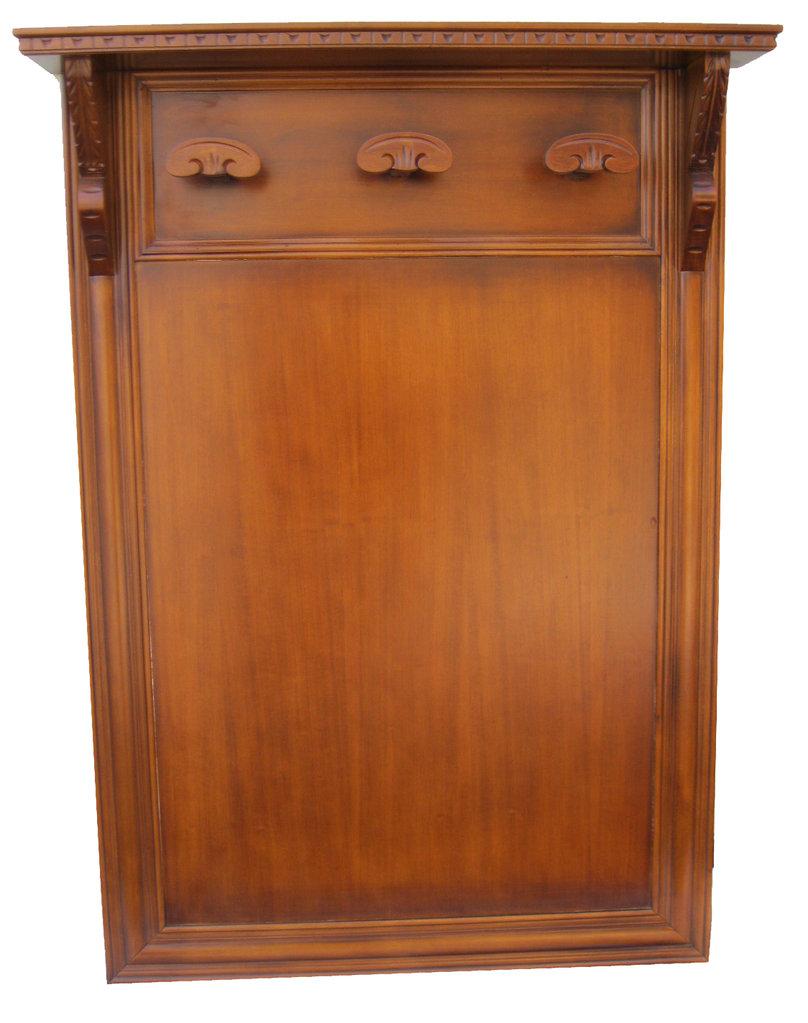 Portabito a parete in legno con cappelliera medio medio - Portabiti in legno ...