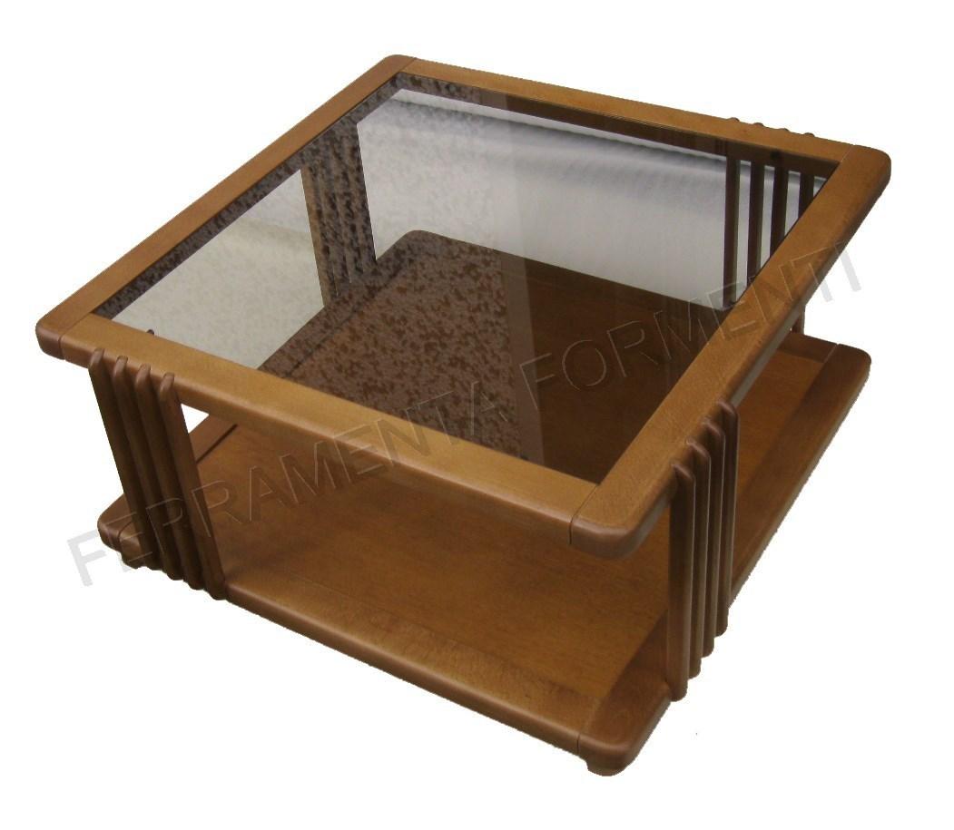 Tavolo in legno tinta noce chiaro con vetro for Tavolo rotondo legno chiaro
