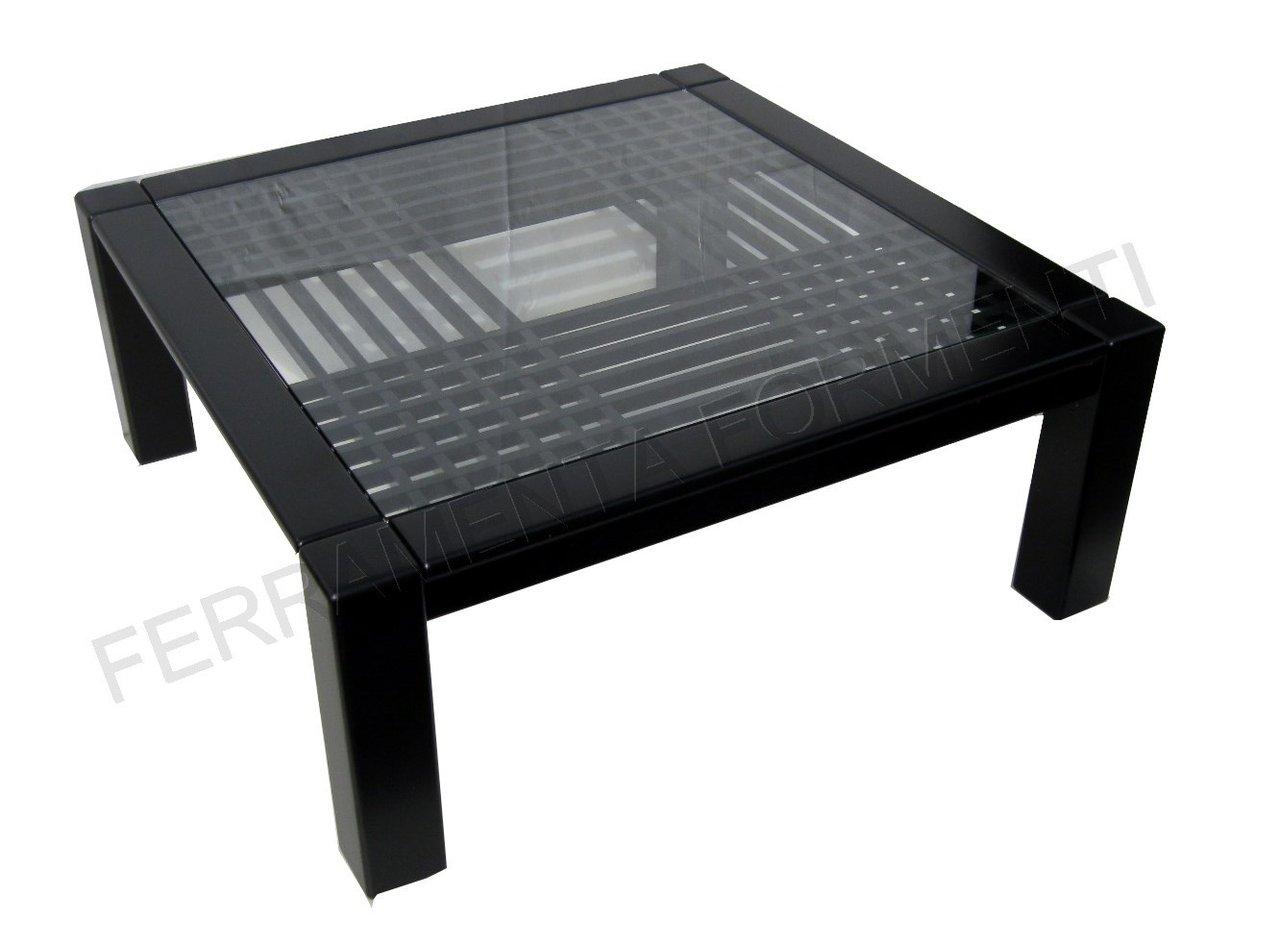 Tavolo in legno color nero opaco con vetro for Tavolo vetro opaco