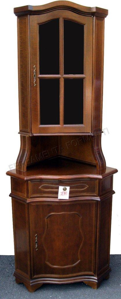 Mobile angolare in legno con vetrinetta for Mobile angolare