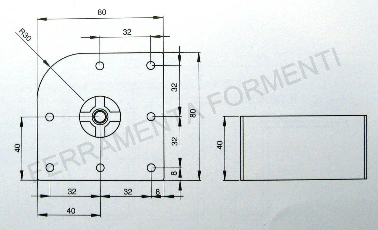 Piedino per mobile in zama h 4 cm regolabile for Piastrelle 8x8
