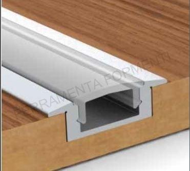 3 mt profilo alluminio incasso per led 7mm policarbonato - Mobili per elettrodomestici da incasso ...
