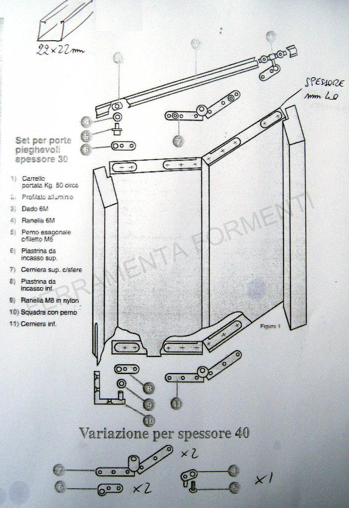 Kit porta libro mm binario 90 cm in all nero fermo - Montaggio porta a libro effebiquattro ...