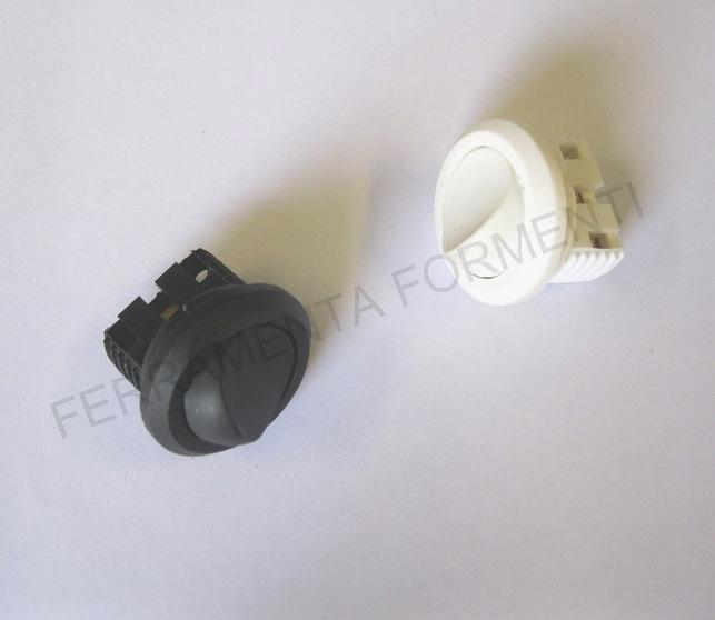 Mini interruttore da incasso foro 22 mm bianco avorio o nero 12v - Interruttori per mobili ...