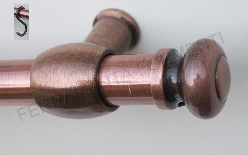 TUBO PORTAMESTOLI cm.90, diametro 16mm + 2 supporti, 6 ganci e tappi ...