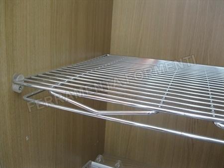 ripiano per mobile in acciaio cromato prof 44 2 misure disponibili