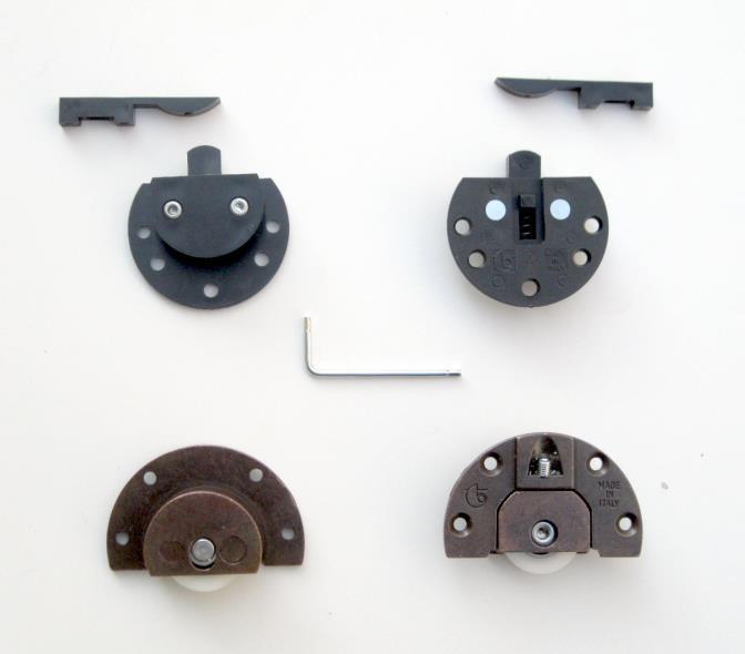 Binari ed accessori per ante scorrevoli max 30 kg ...