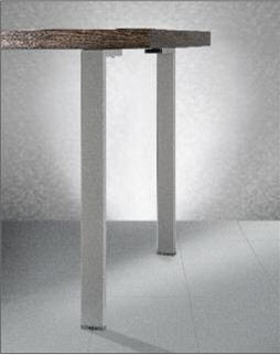 Gambe Per Tavoli In Alluminio.Coppia Gambe In Acciaio Color Alluminio Per Tavolo A Penisola