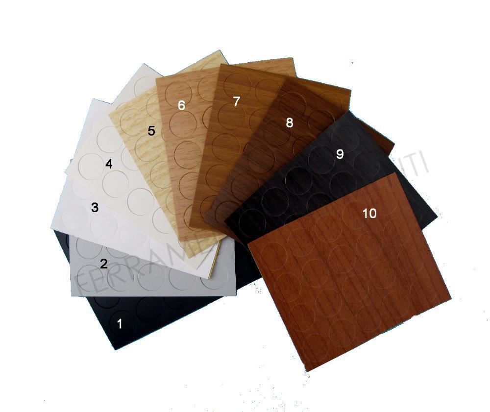Fogli adesivi copri vite fori in plastica tinta legno - Fogli adesivi per mobili ...
