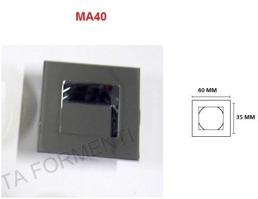 Maniglia da incasso per mobile mital foro 35mm scegliere - Maniglie quadrate per mobili ...