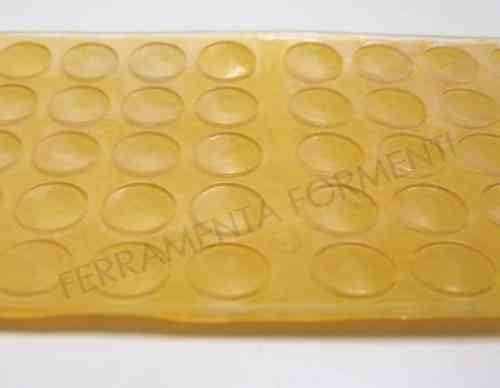 50 Transparent adhesive rubber bumpers 10 x 1.5 mm