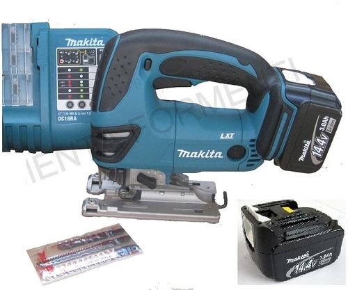 MAKITA - BJW140RFE seghetto alternativo a batteria, caricatore rapido, 2 batterie 14,4V Litio 3Ah