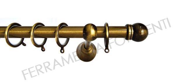 Bastone per tende in ferro diametro 22mm supporti 20cm - Supporti per tende ...