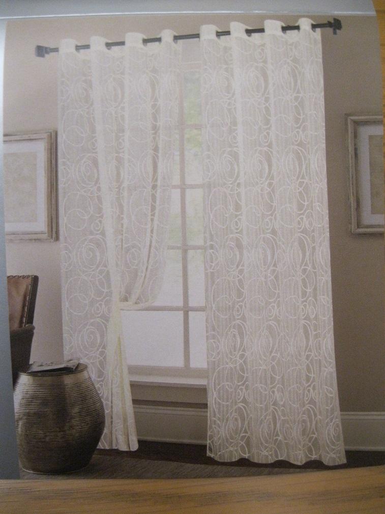 assolutamente alla moda modelli alla moda eccezionale gamma di stili e colori Tenda per interni in pizzo moderno, arredamento casa,1 telo bianco, con  anelli, 140cm x h 280 cm