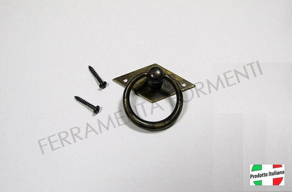 Maniglie Per Mobili Arte Povera.Maniglia Ad Anello Per Mobile Antico Arte Povera Mm 50x44