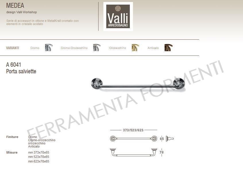 Medea a 6041 portasalviette per bagno design valli - Portasalviette per bagno ...