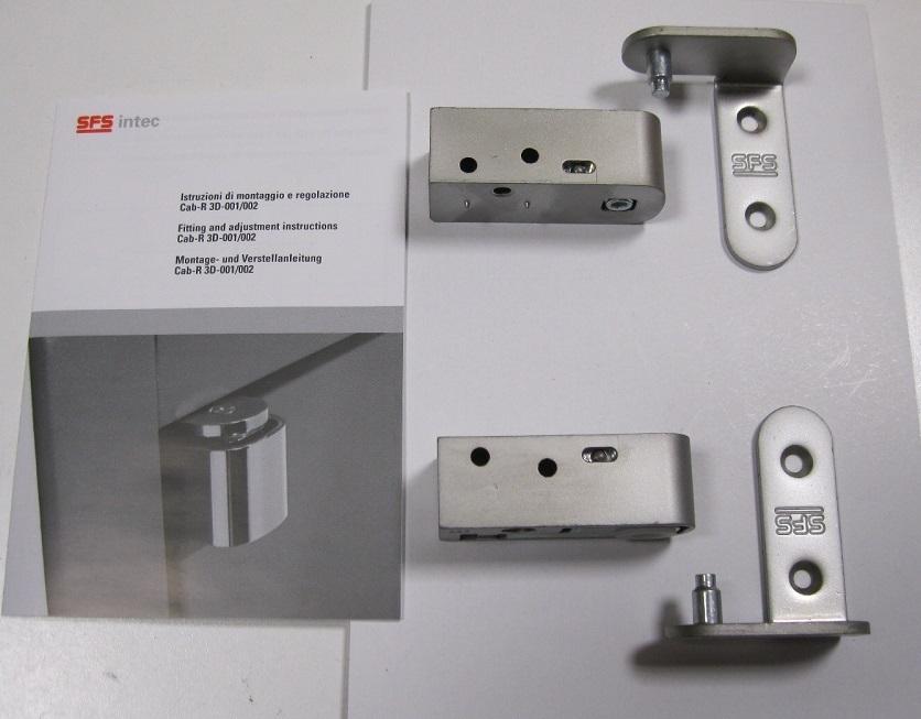 Coppia cerniera a bilico regolabile per porta a filo - Spessore porta ...