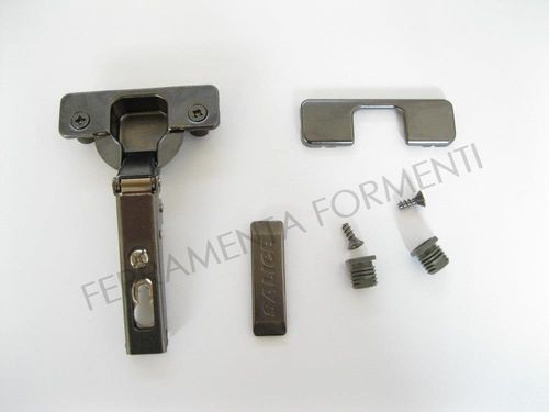 C2B6A66 - Salice furniture hinge, hole 35mm , full overlay, 110° opening angle, Titanium color