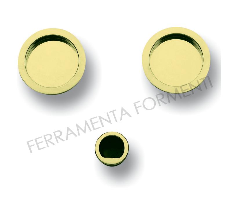 Kit Maniglie Rotonde Per Porta Scorrevole Con Ditale Trascinamento