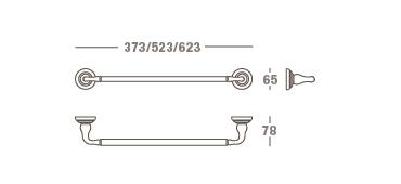 Medea a 6041 portasalviette per bagno design valli for Portasalviette bagno design