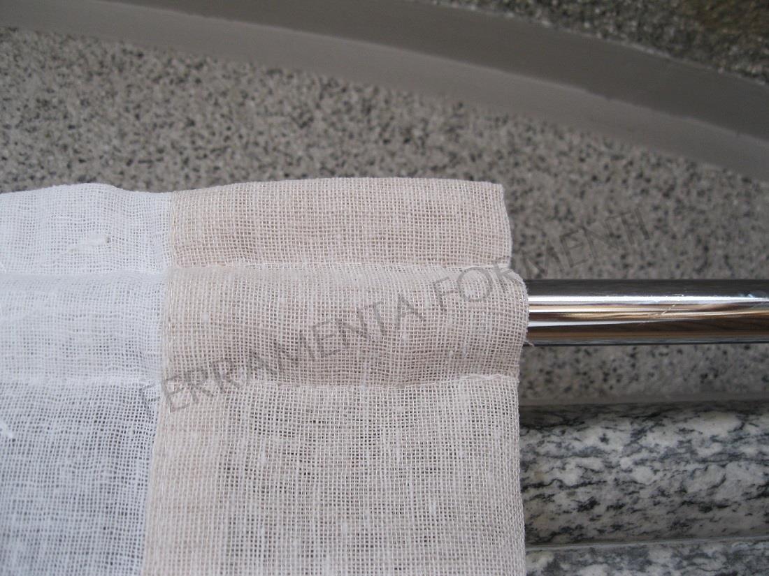 Tende di lino a vetro tende per cucina a vetro with tende - Tende per doccia in lino ...