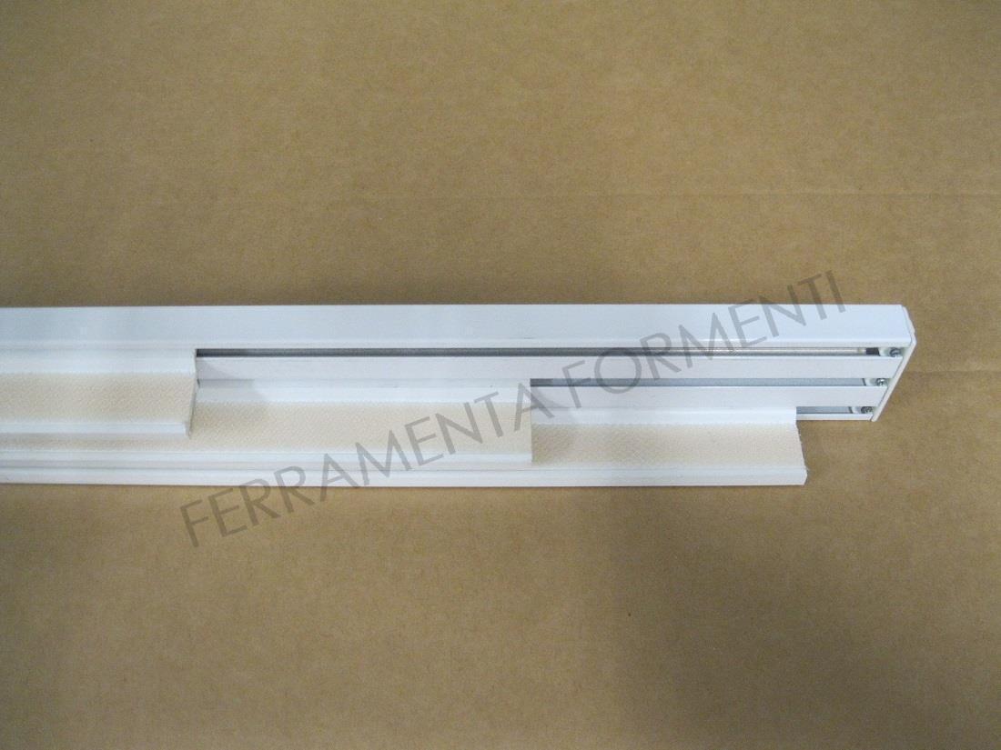 Tende Pannello Binario.Binario Tende A Pannello Silentgliss 2700 3 Vie Per 3 Teli In Alluminio Colore Bianco Con Pesi