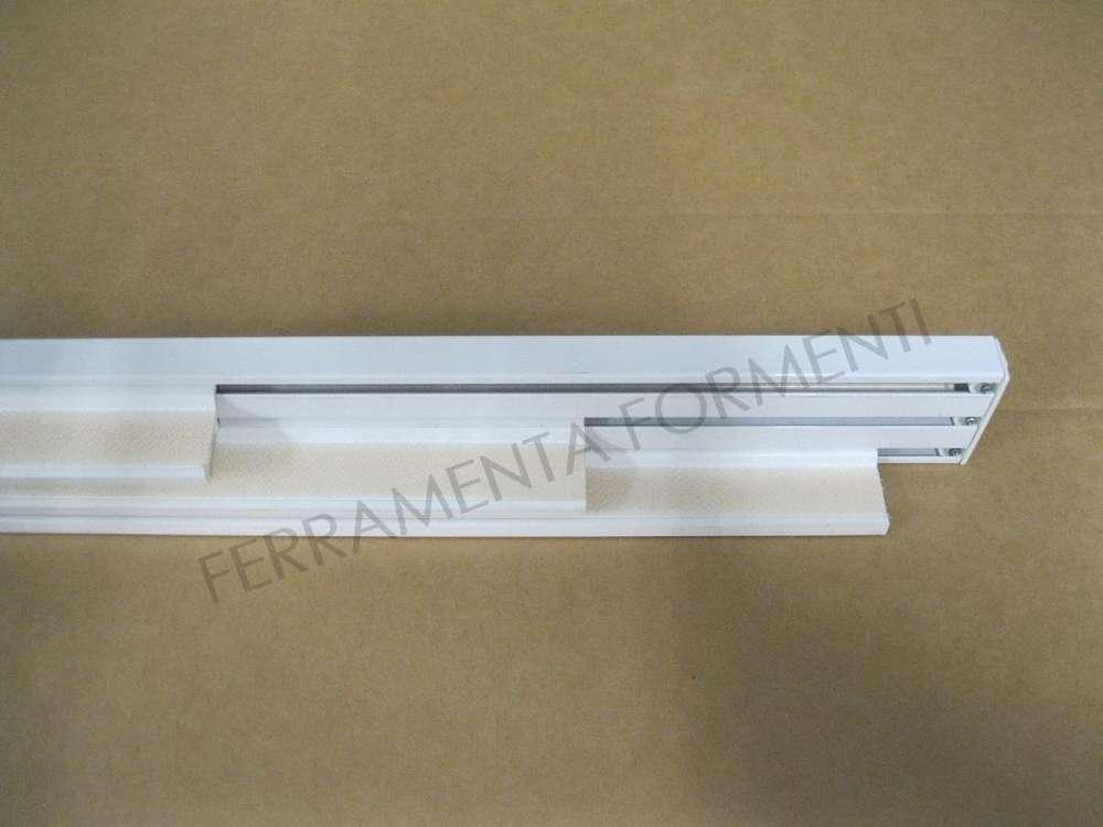 Binario Tende A Pannello Silentgliss 2700, 3 Vie Per 3 Teli, In Alluminio  Colore Bianco, Con Pesi
