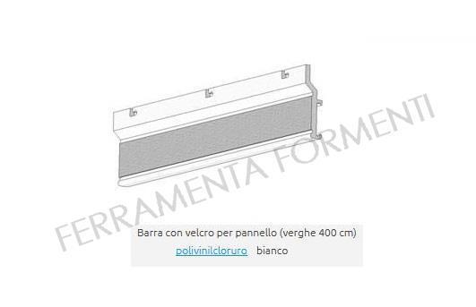 Tende A Pannello Velcro.Barra Scorrevole Con Velcro Ricambio Per Binario Tende A Pannello Colore Bianco