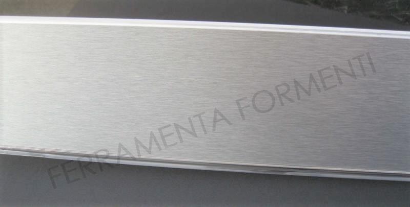 Zoccolo Cucina Alluminio 12 Cm.Zoccolo Per Mobile Cucina Alto 12 Cm Pvc Rivestito Alluminio Spazzolato Scegliere Lunghezza