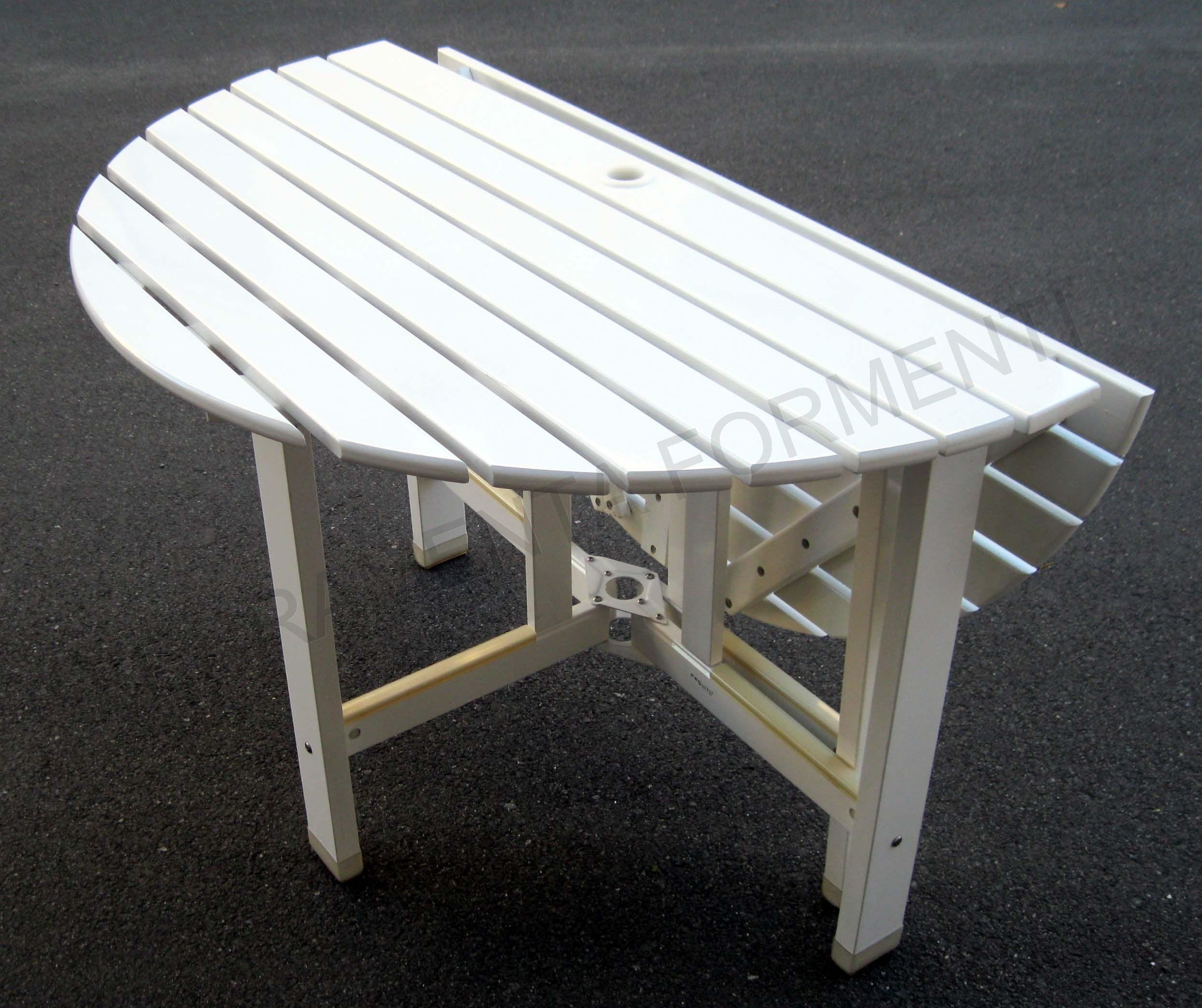 Tavolo circolare giardino in legno bianco reguitti - Giare da giardino ...