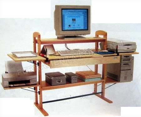 1000 mhz - white FOPPAPEDRETTI  computer wood table