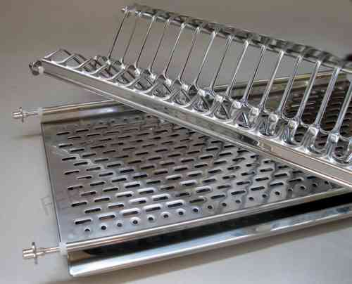 draining board for cabinet - dish rack made of stainless steel AISI304, 18/10