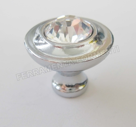 FURNITURE KNOB crome + swarovsky - mm.23 x h.20 for sale
