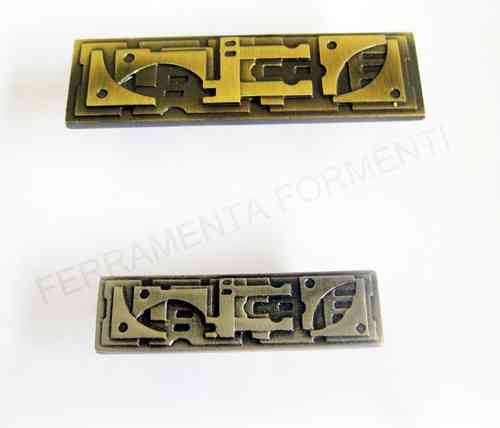 Furniture handle for cabinet OM Porro 405, made of brass, choose size and color